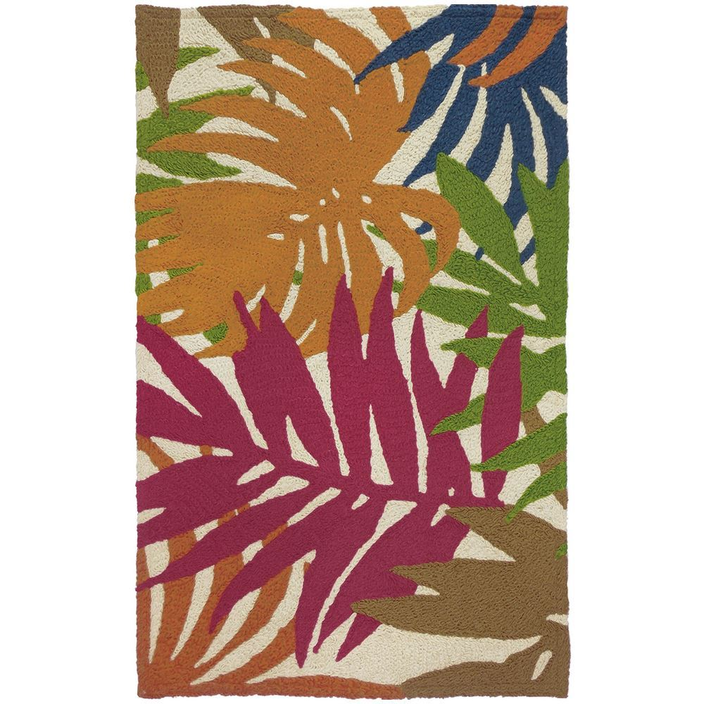 Jelly Bean Throw Rugs: Jellybean Colorful Palms Indoor/Outdoor Rug