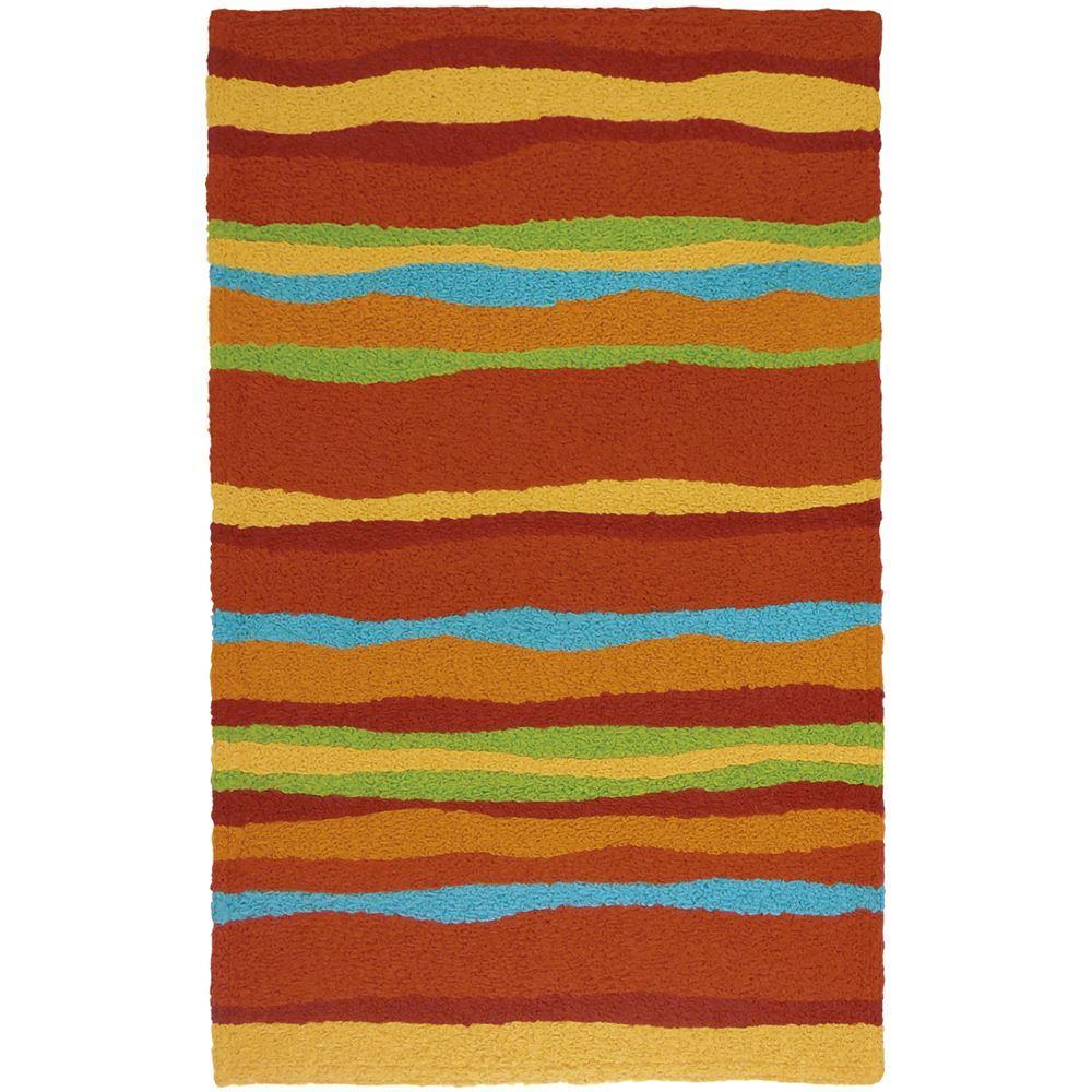 Jellybean Fiesta Stripes Indoor/Outdoor Rug