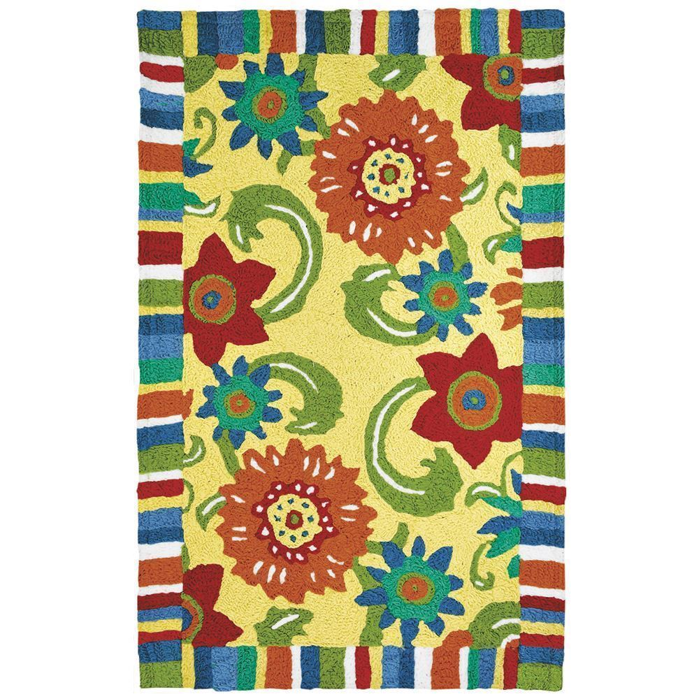 Jelly Bean Throw Rugs: Jelly Bean Fun Flowers Indoor/Outdoor Rug