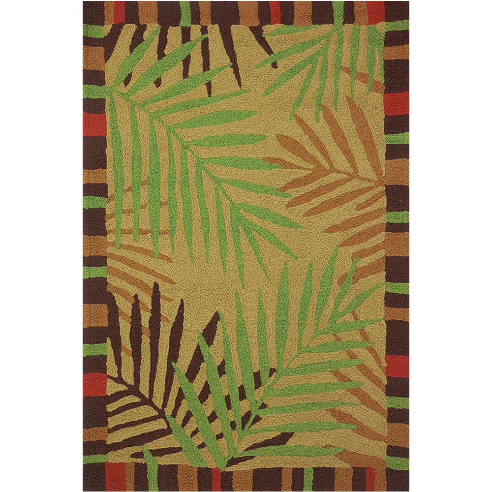 Jelly Bean Throw Rugs: Jellybean Tropical Leaves Indoor/Outdoor Rug
