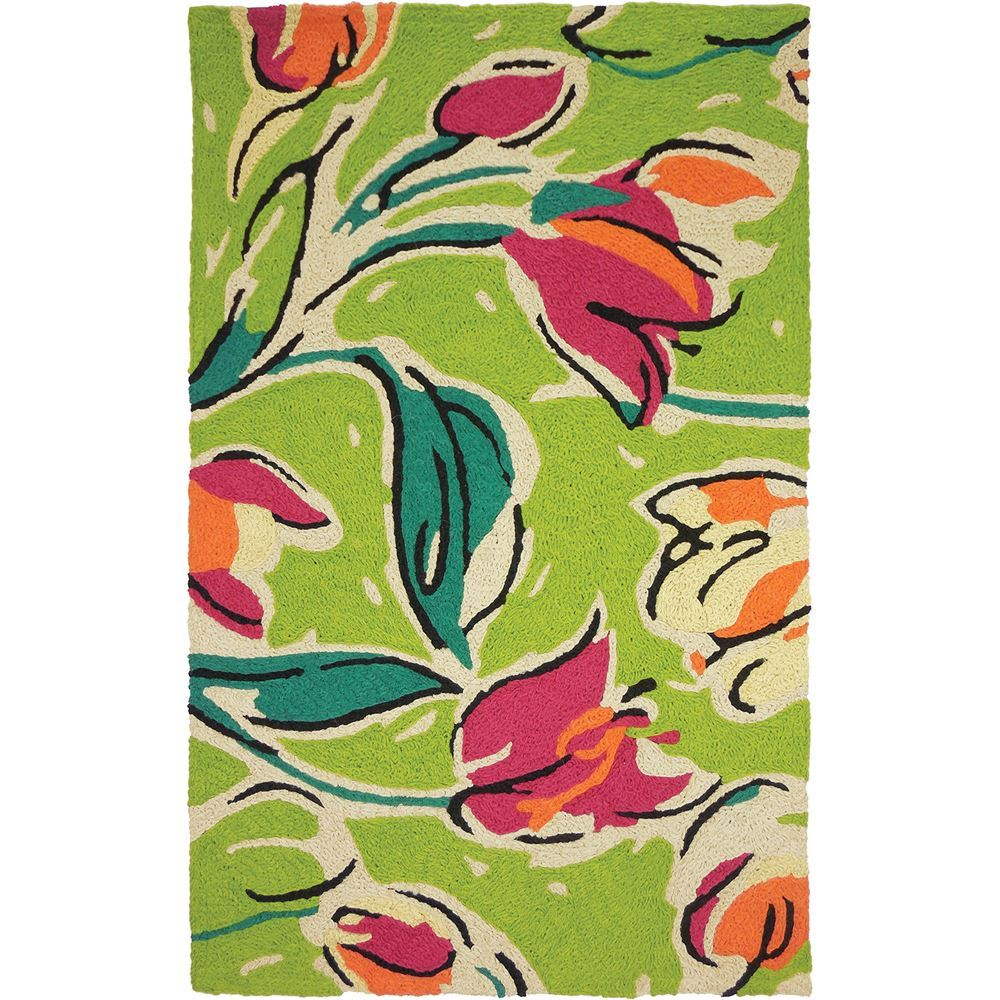 Jellybean Tulip Indoor Outdoor Rug